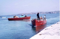 Red Boats at Iona jetty