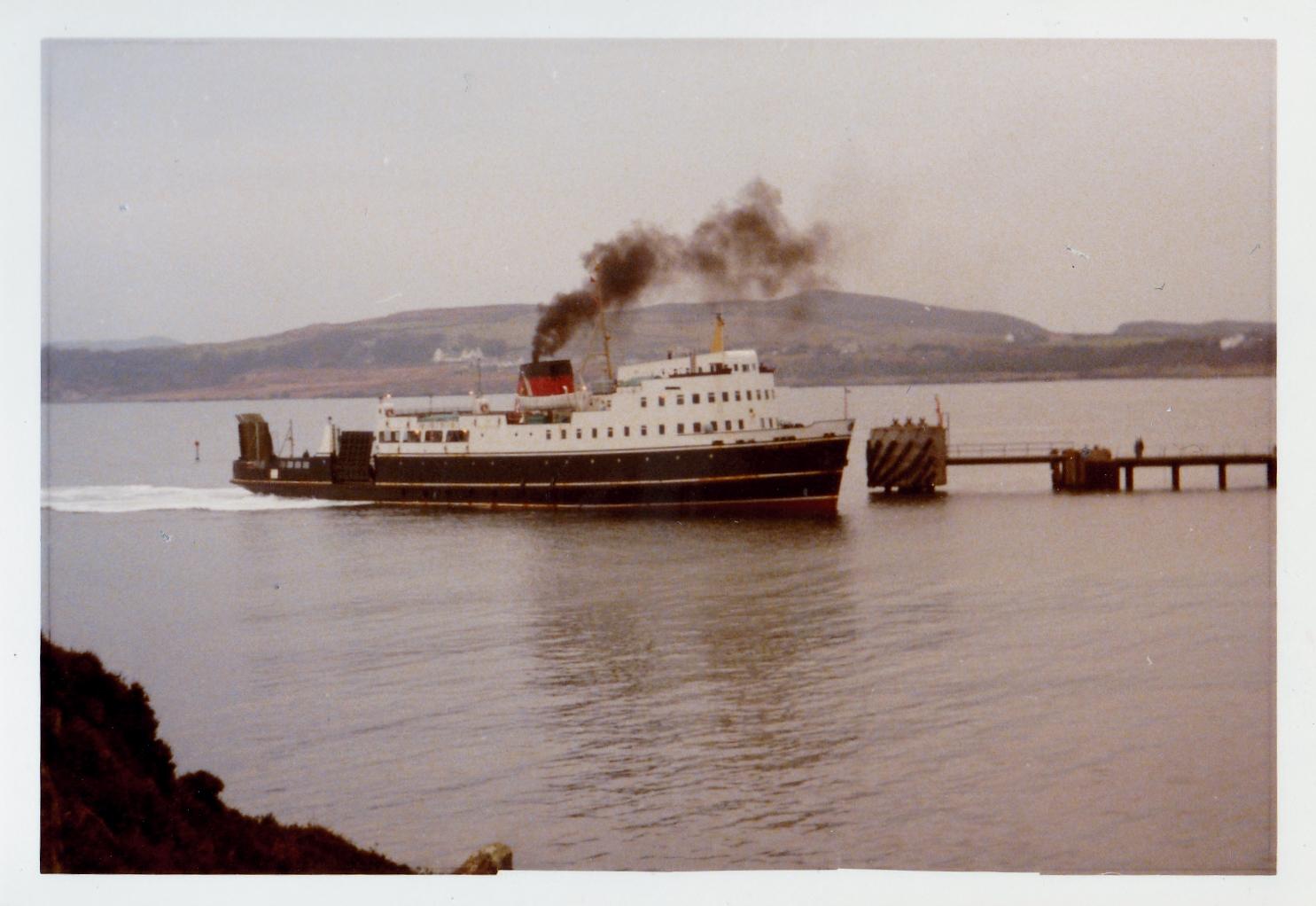 Glen Sannox arriving at Port Ellen (Jim Aikman Smith)
