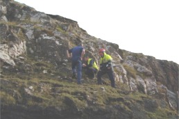 Some of Pioneer's crew ashore at Canna...