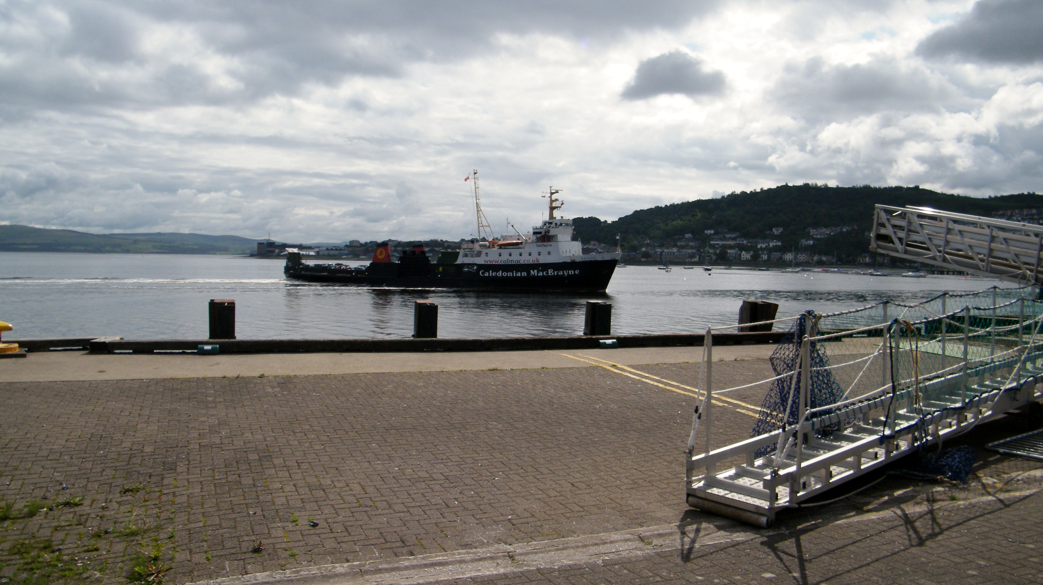 Saturn arriving at Gourock (Ships of CalMac)