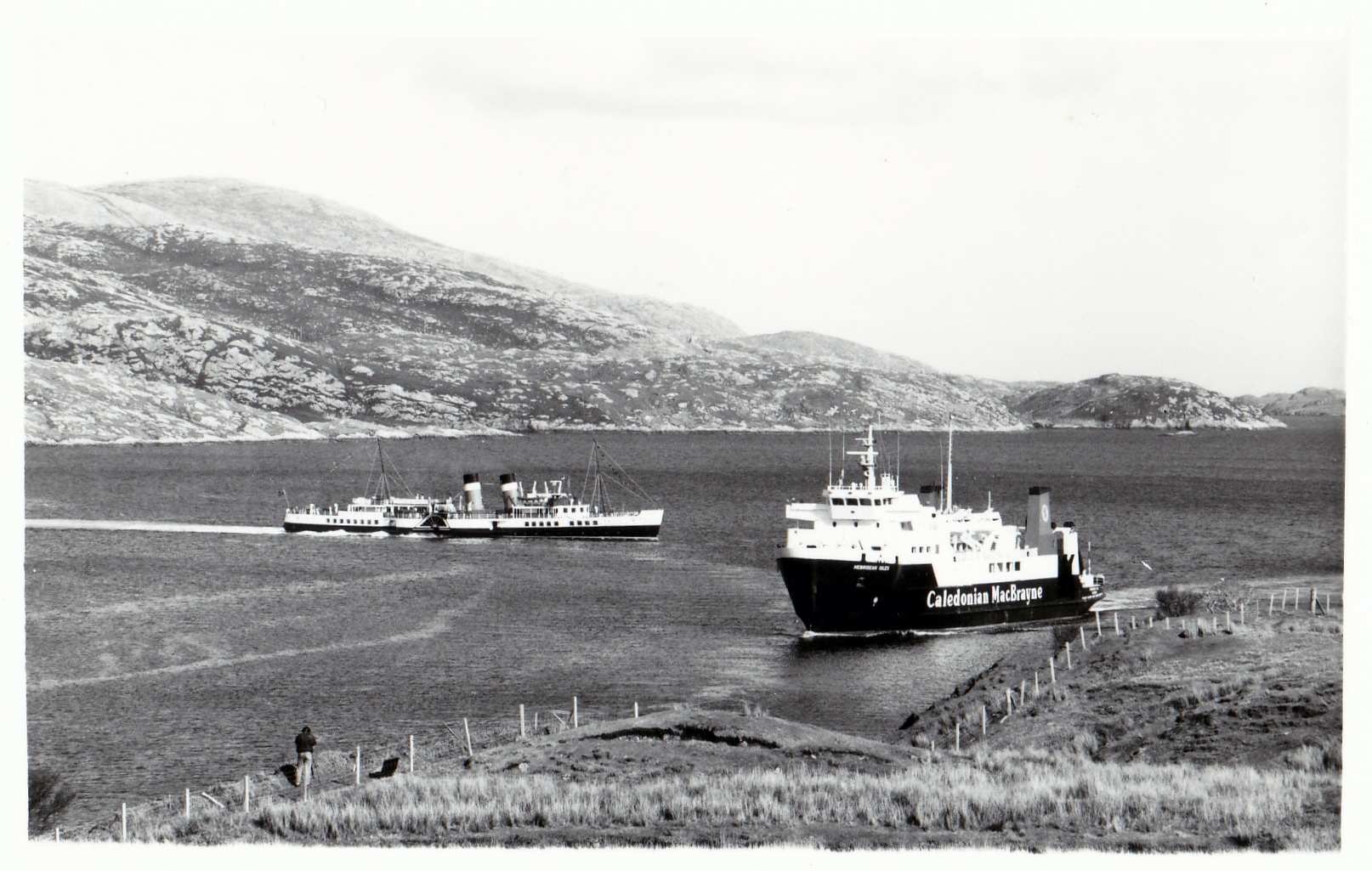 Waverlet and Hebridean Isles off Tarbert, Harris