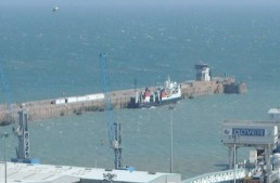 Claymore - dwarfed by the regular Dover fleet