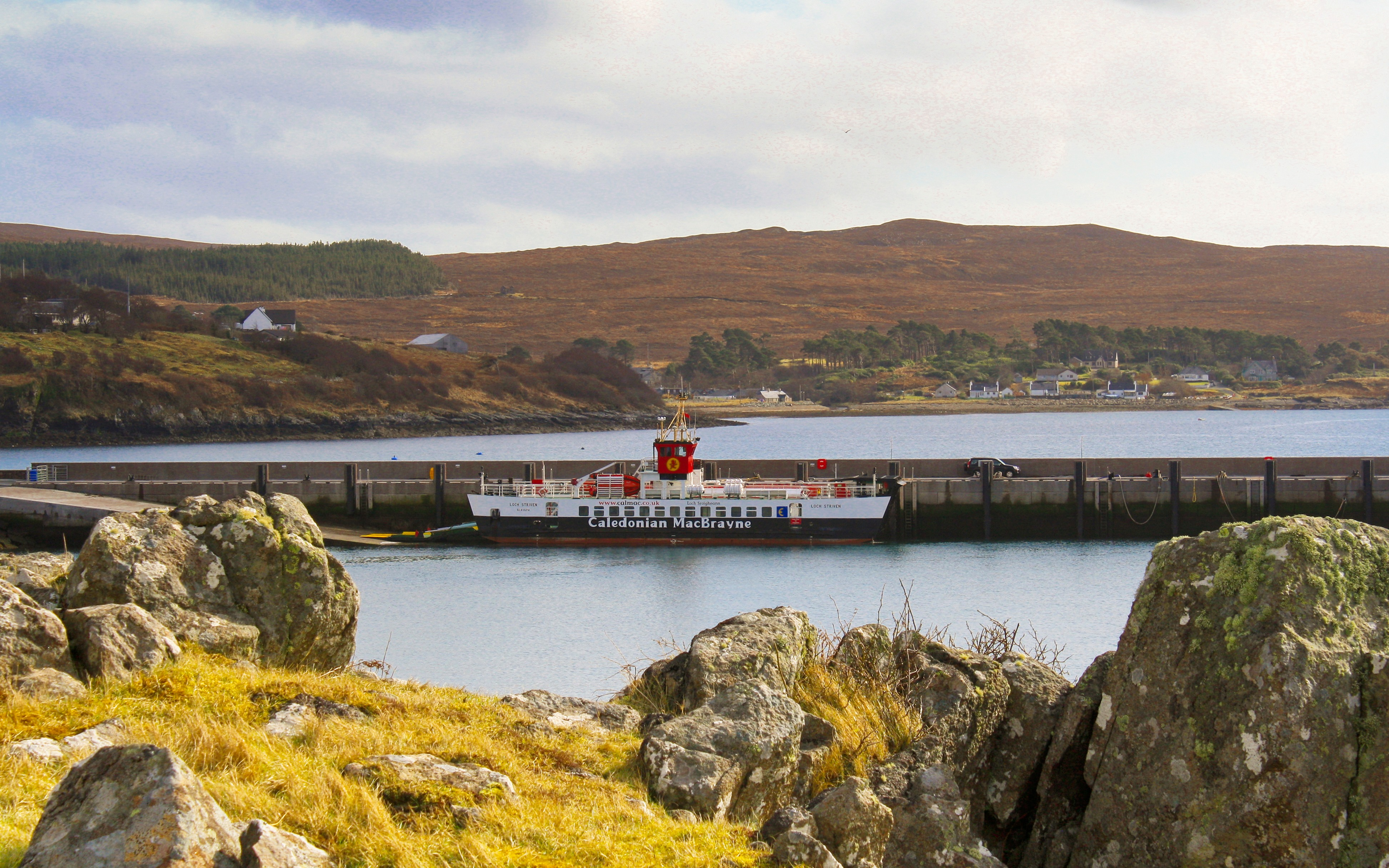 Loch Striven at Raasay's new pier (Ships of CalMac)