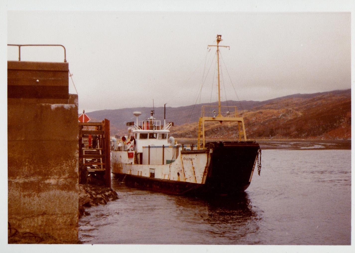 Bruernish at Toscaig, 1977