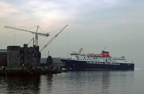 At her launch in 1987