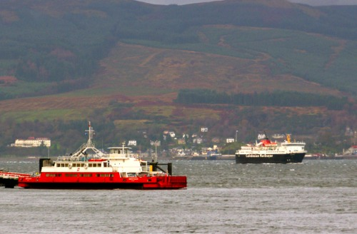 Passing McInroy's Point while diverting to Gourock