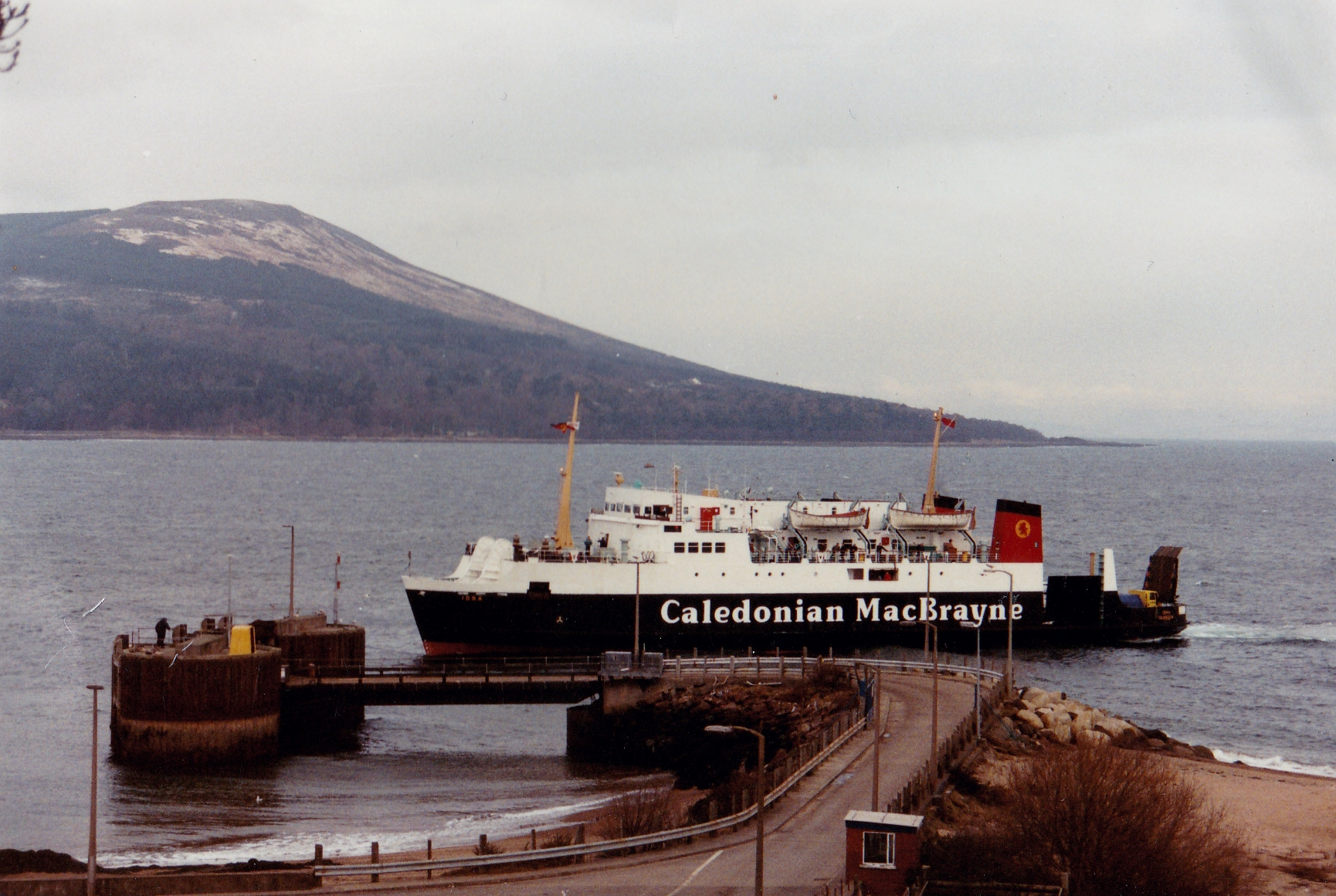 Iona at Brodick on relief (Jim Aikman Smith)