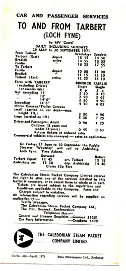 The 1972 schedule