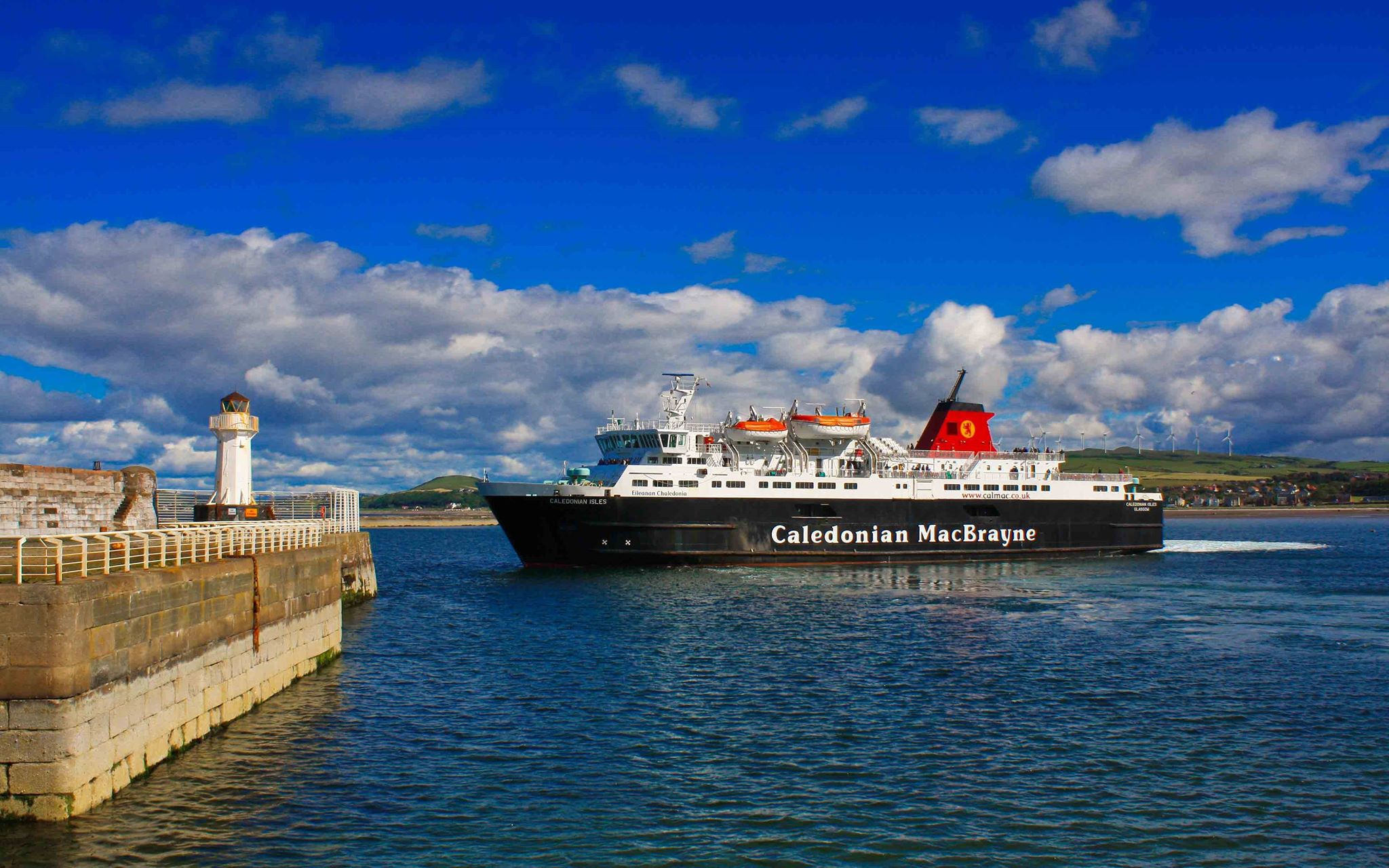Caledonian Isles leaving Ardrossan (Ships of CalMac)