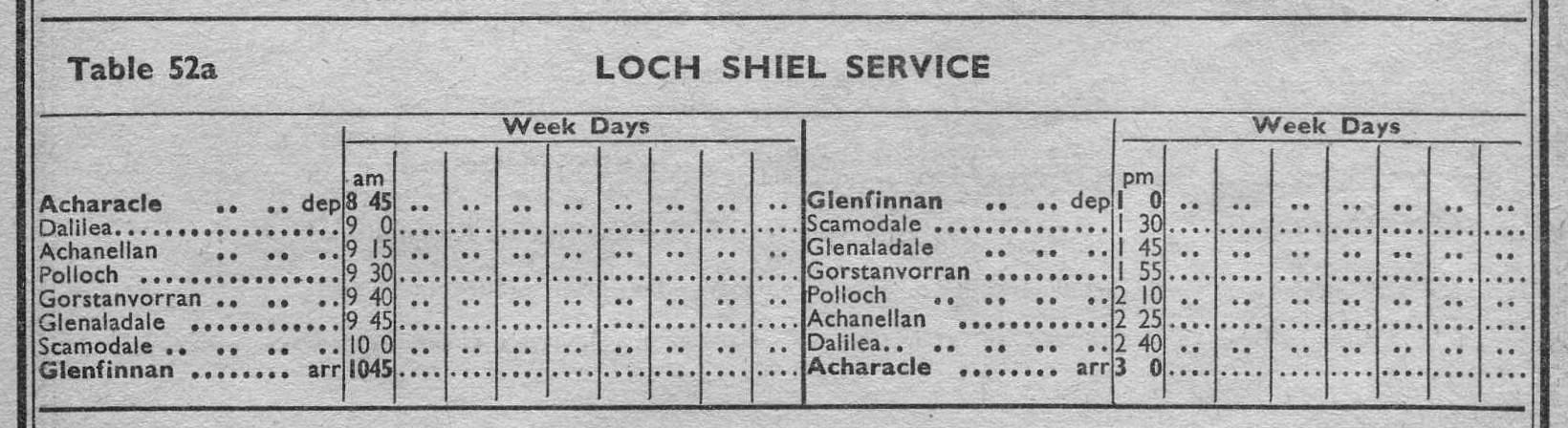 1959 Timetable