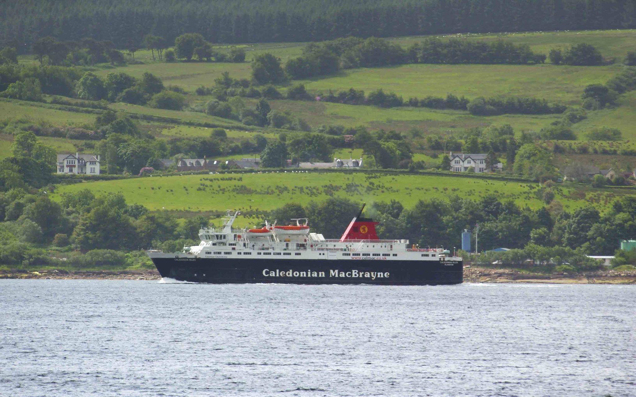Caledonian Isles leaving Brodick (Ships of CalMac)