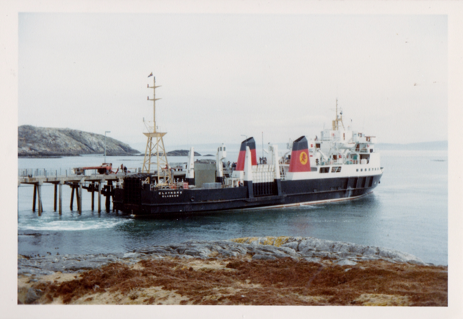 Claymore alongside at Coll (Jim Aikman Smith)