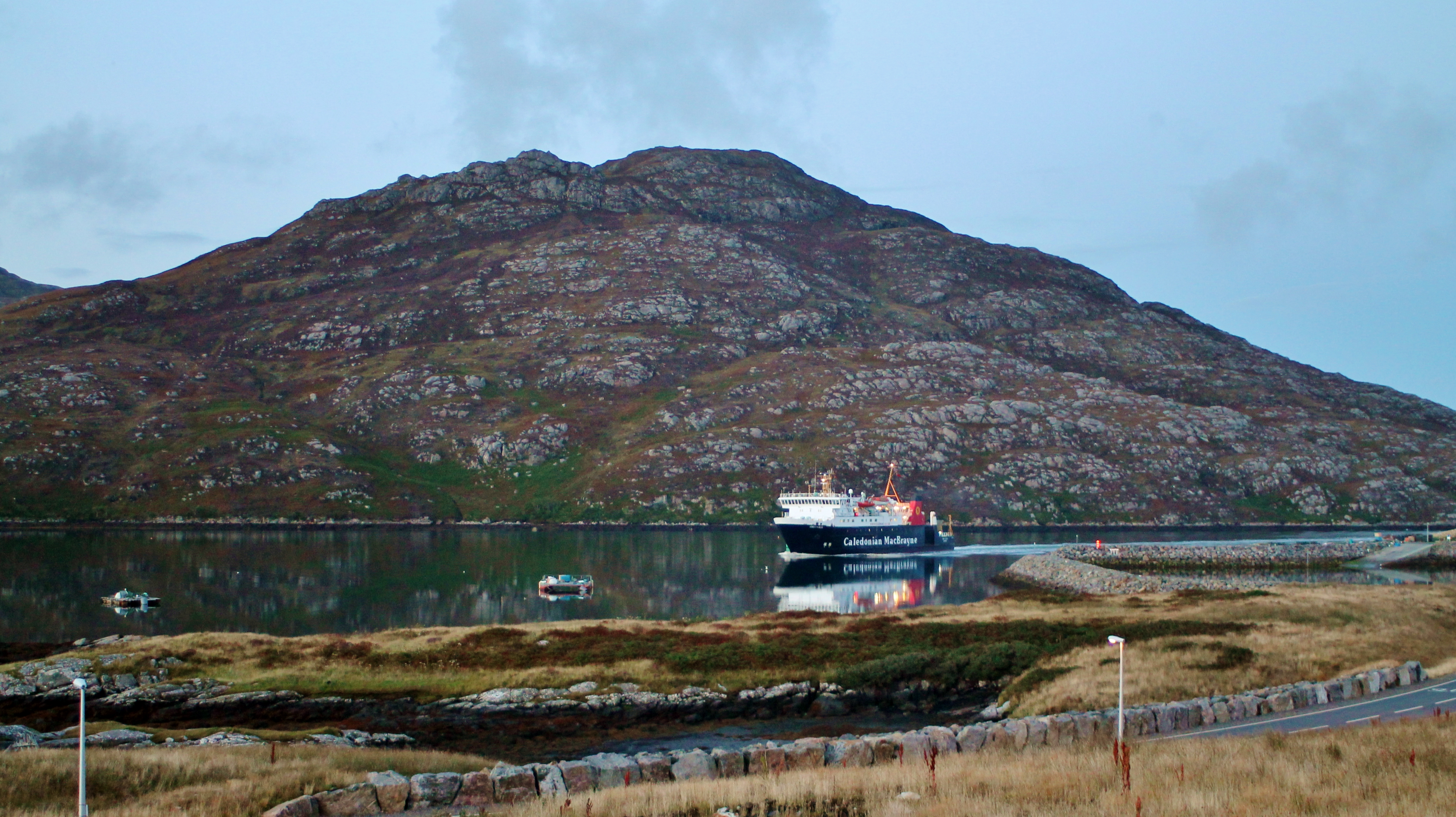Lord of the Isles arriving at Lochboisdale (Ships of CalMac)
