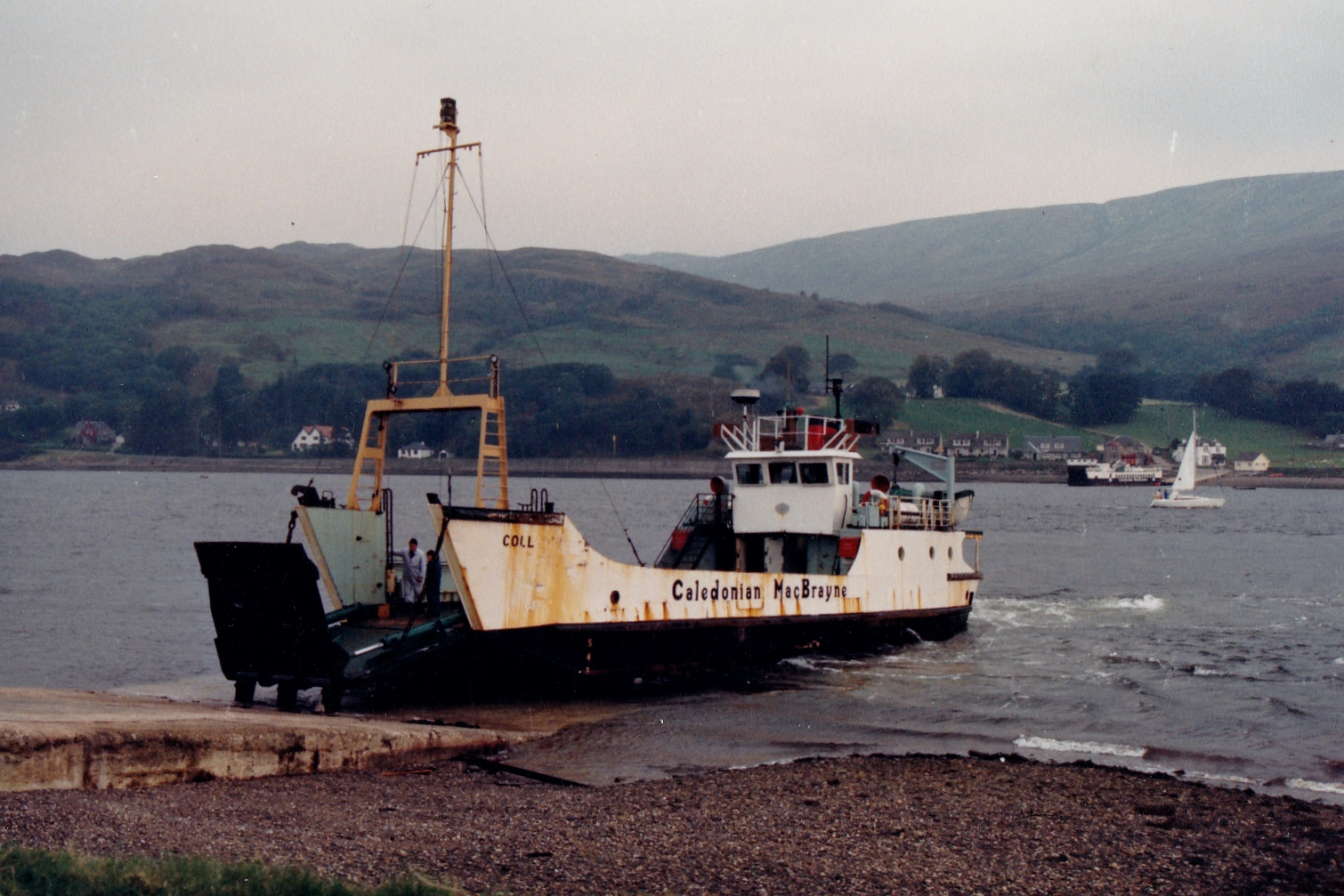 Coll at Rhubodach with Loch Riddon at Colintraive (Jim Aikman Smith)