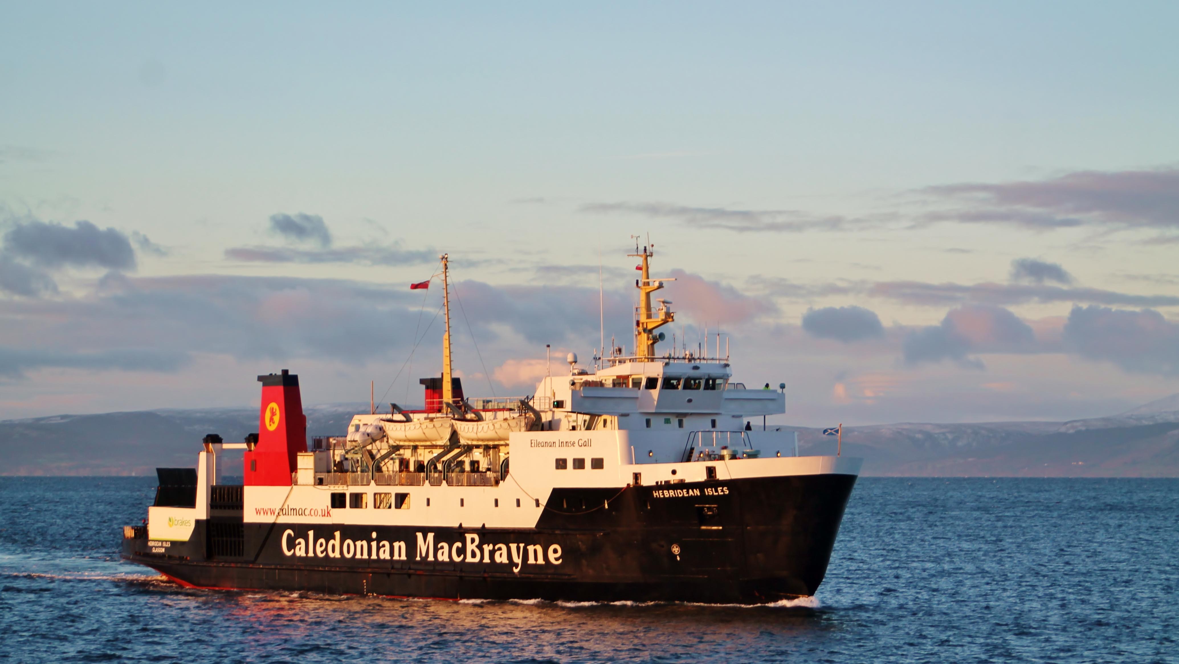 Hebridean Isles arriving at Ardrossan (Ships of CalMac)