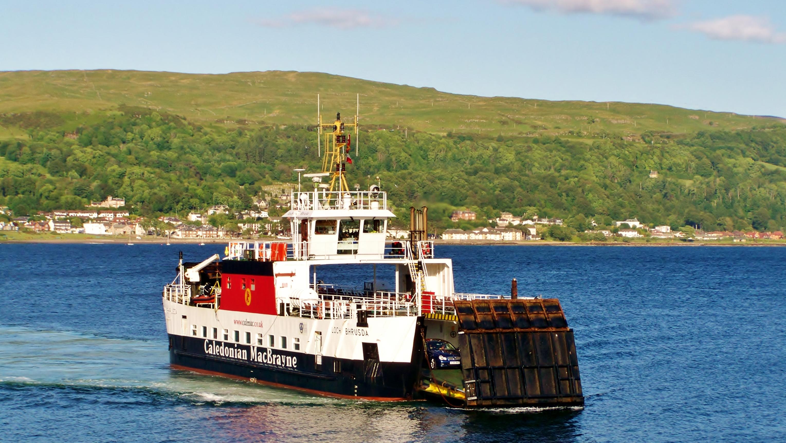 Loch Bhrusda relieving at Cumbrae Slip (Ships of CalMac)