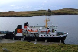 Her final call at Canna Pier