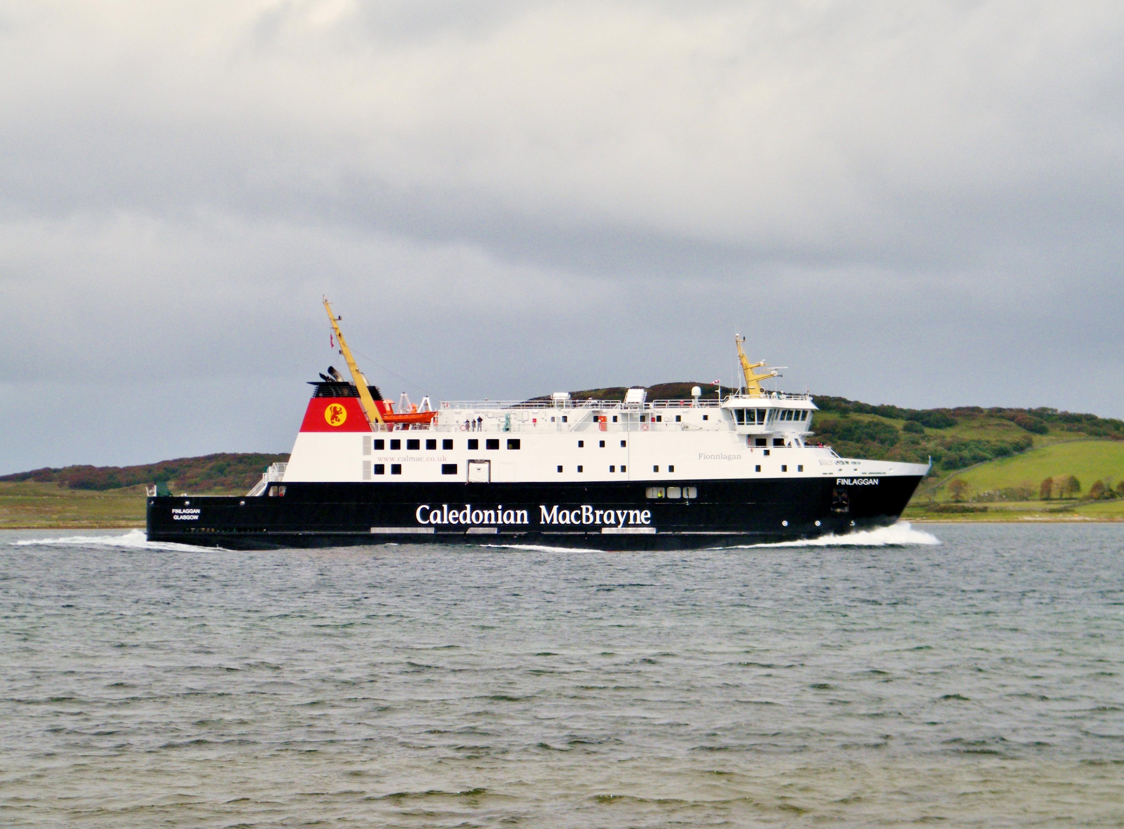 Finlaggan entering West Loch Tarbert (Ships of CalMac)
