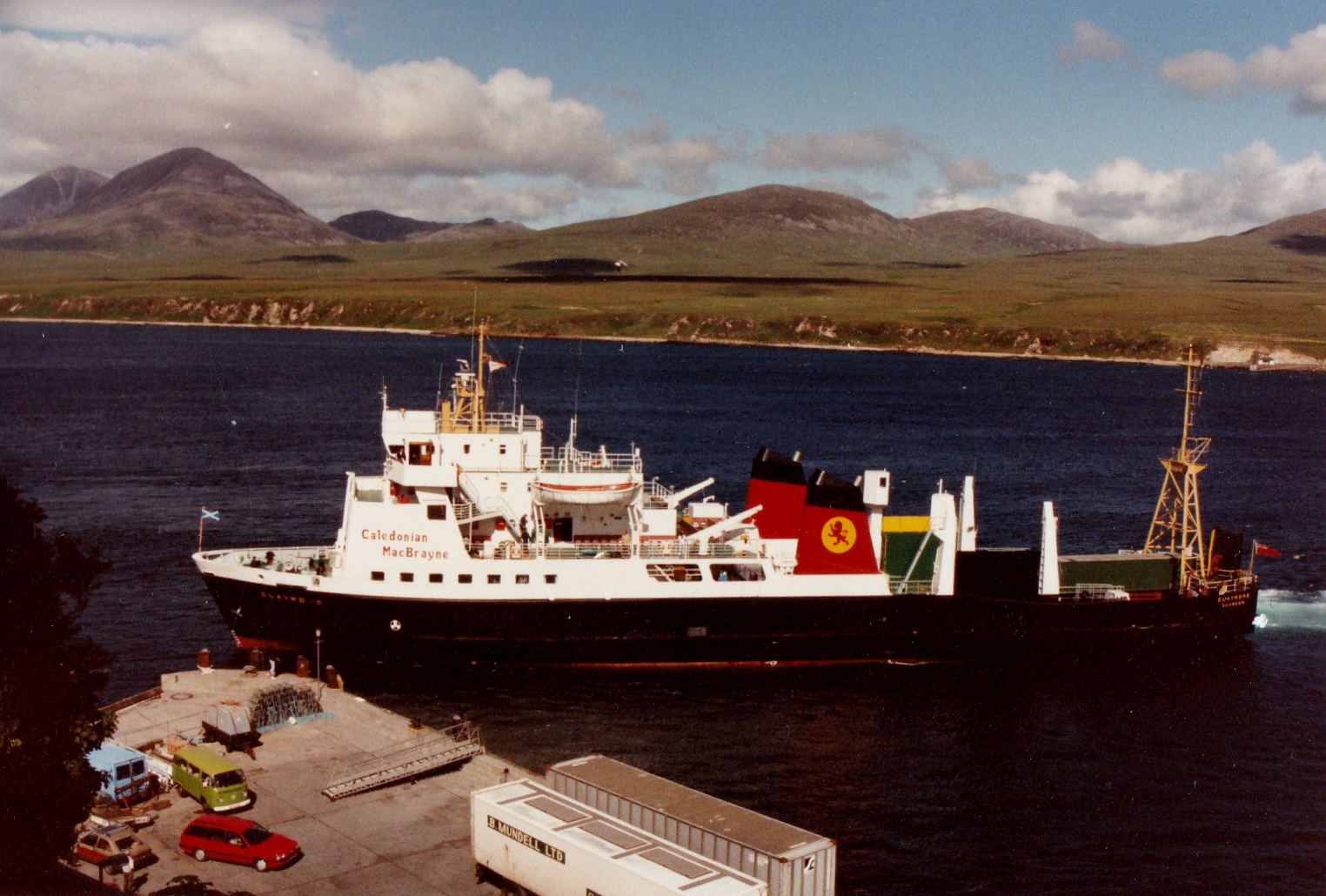 Claymore arriving at Port Askaig (Jim Aikman Smith)