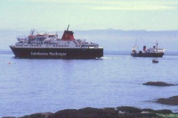 Pioneer at Brodick with Caledonian Isles