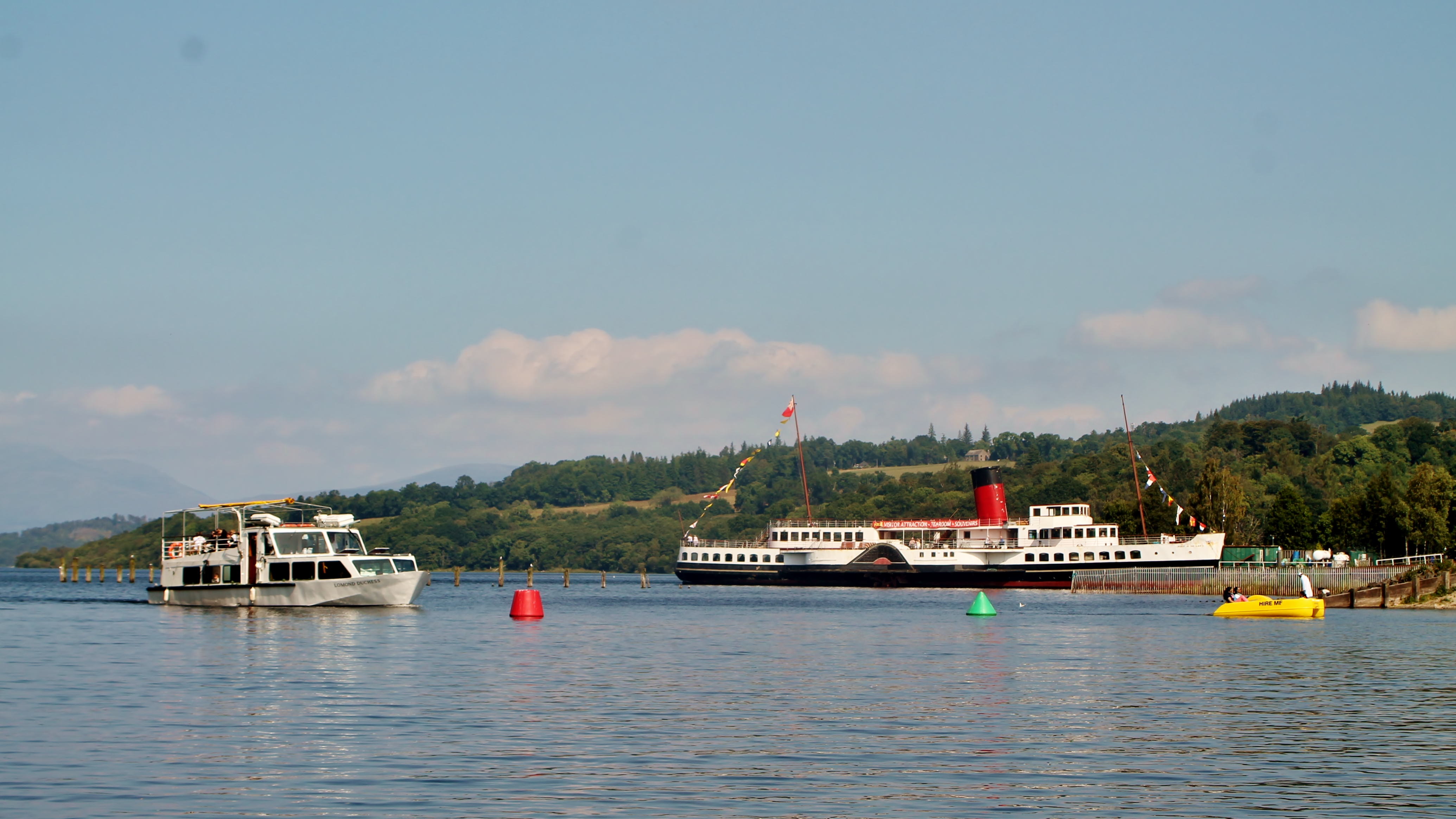 Maid of the Loch and Osprey