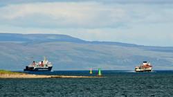 Isle of Arran leaving Campbeltown