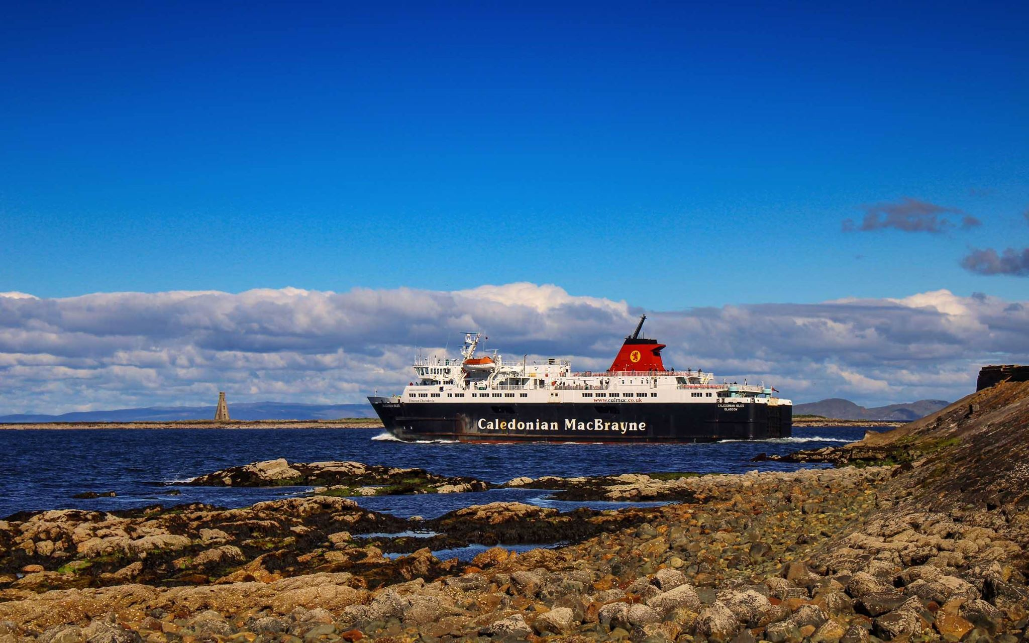 Caledonian Isles leaving Ardrossan with Horse Island behind (Ships of CalMac)