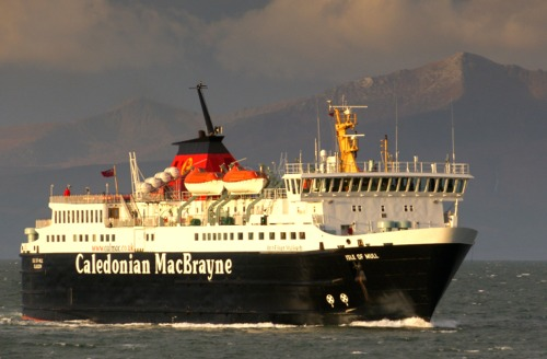 Off Ardrossan in unusually calm conditions