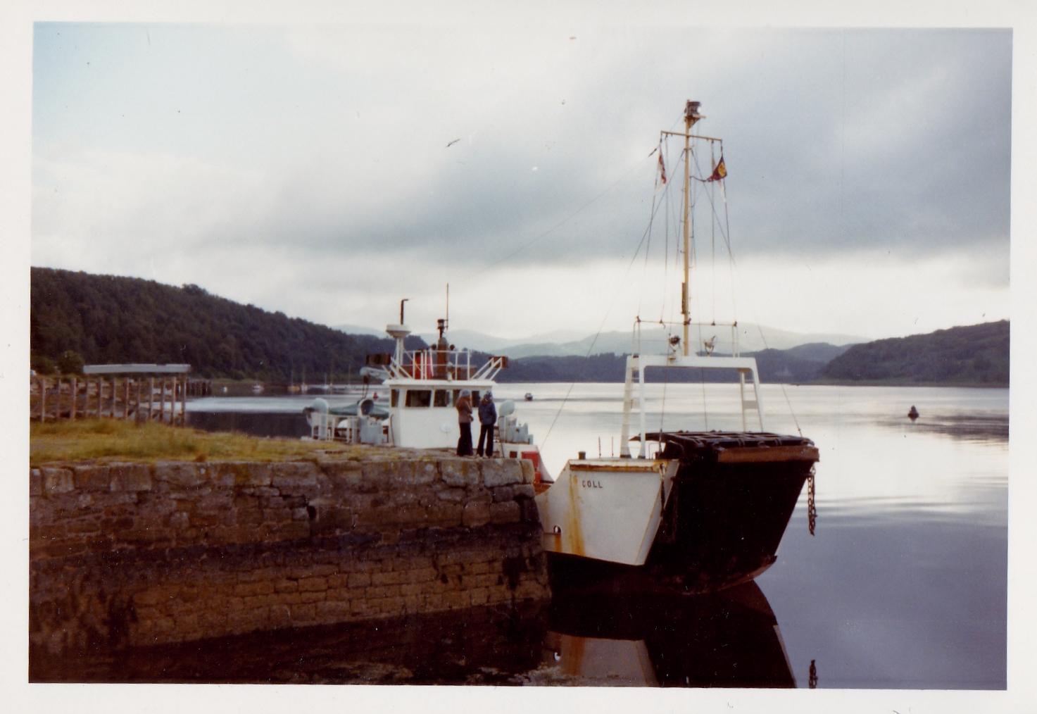 Coll lying at Lochaline (Jim Aikman Smith)