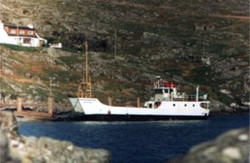 Morvern sitting at Kyles Scalpay in early 1977