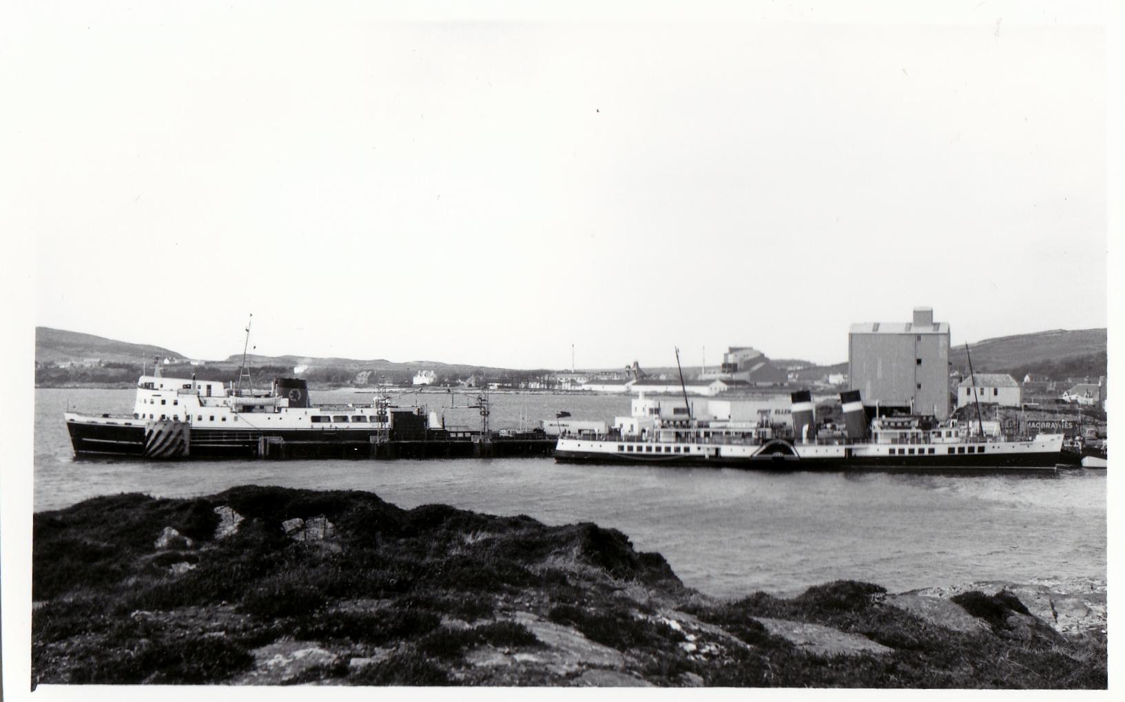 Waverley and Glen Sannox at Port Ellen