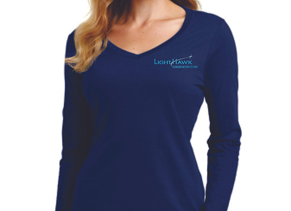 Port & Company® Ladies Long Sleeve Fan Favorite™ V-Neck Tee