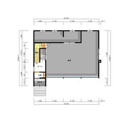 K様邸 1階:75.08(車庫含む)