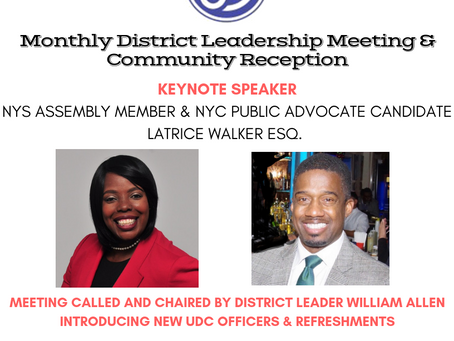 Uptown Democratic Club General Membership Meeting