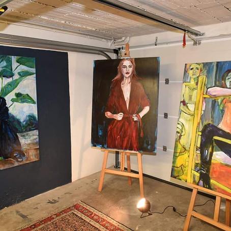 Le Vésinet's Mayor Visits Art Studio