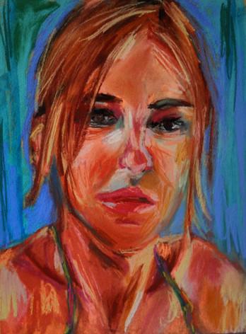 Self-portrait in Greece