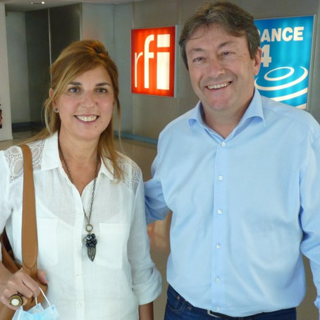 Interviewed by Radio France International