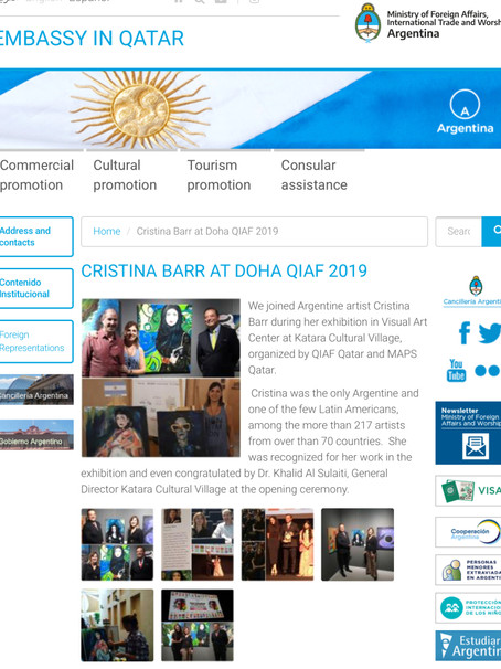 Support from Embassy of Argentina in Qatar