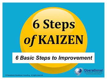 PPT: 6 Steps of Kaizen Training Presentation