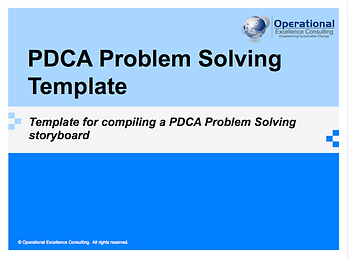 PPT: PDCA Problem Solving Project Template