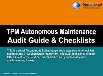 PPT: TPM Autonomous Maintenance Audit Guide & Checklists