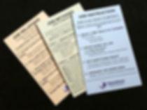 TWI program pocket cards (JI, JM & JR)