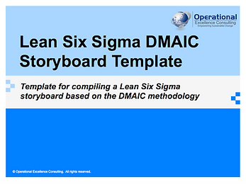 PPT: Lean Six Sigma DMAIC Project Template