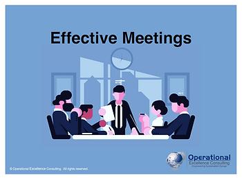 PPT: Effective Meetings Training Presentation