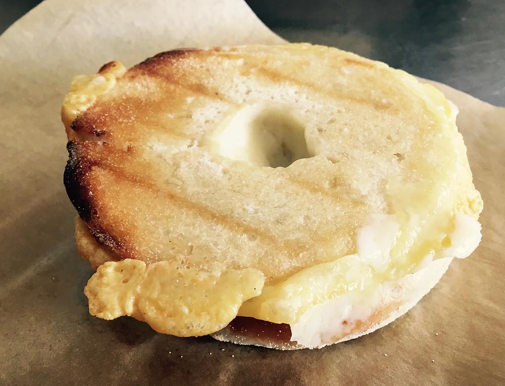Awesome Bake'mmm Bagel cheese sandwich