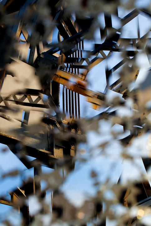 Surreal Lift Bridge Sturcture