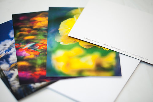 Postcard pack of 8 - Surreal Flower Series