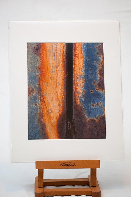 Matted Metallic Print - Rust: Flame Wide
