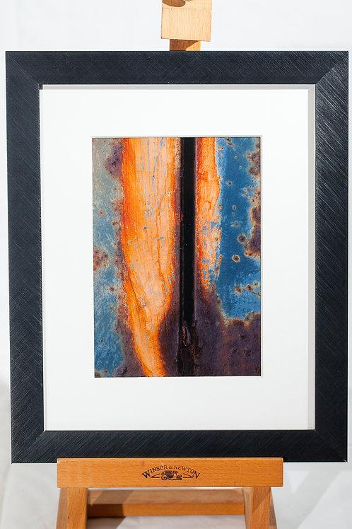 Framed metallic print