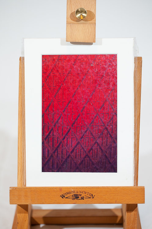 Matted Metallic Print - Stop Light Grid